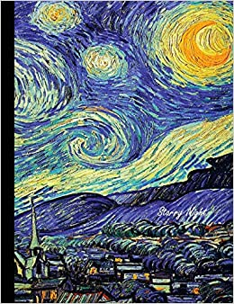 starry night composition book unruled blank sketch paper sketchbook for kids drawing notebook for school art class pad vincent van gogh