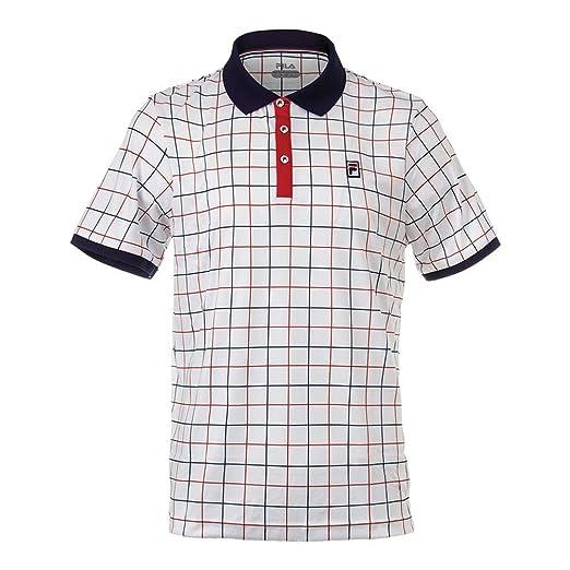 Fila Men's Heritage Windowpane Polo Shirt