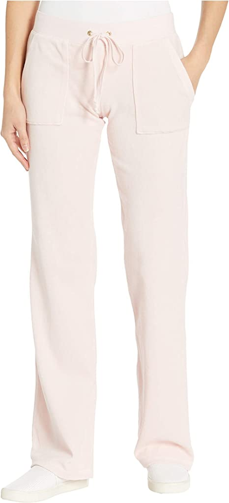 Amazon Com Juicy Couture Del Rey Velour Pants Silver Pink Sm Us 2 4 Clothing