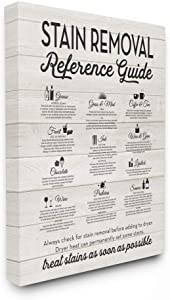Stupell Industries Stain Removal Reference Guide Typography Canvas Wall Art, 16 x 20, Design By Artist Lettered and Lined