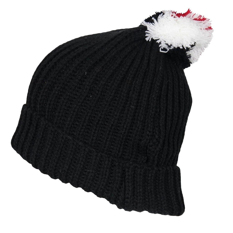 IMTD Jungen geschoben Turn Up Beanie Hat Schwarz Freitag Januar Verkauf Bobble Warm Snow Ski Beanie Hat Kids
