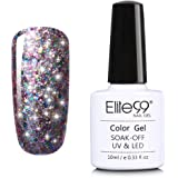 Elite99 Starry Gel Nail Polish Soak Off UV LED Glitter Shimmer Gel Nail Lacquer Varnish Gloss Bling Nail Art Beauty Salon Manicure 10ml 6618