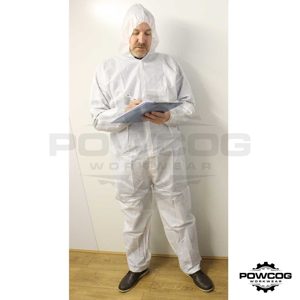 Disposable Overall with Hood - 2XL by POWCOG