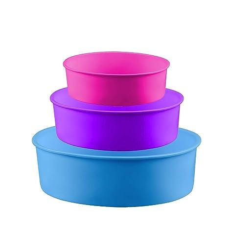 Amazon.com: HostStyleZ - Molde de silicona para tartas, sin ...