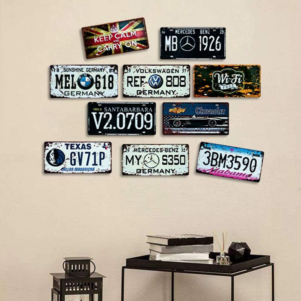 Souvenir parfait 30X15cm Eureya Plaque en m/étal en /étain pour maison bar plaque dimmatriculation de voiture d/écoration murale caf/é /Étain 100 Euro