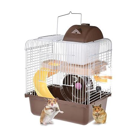 Jaula de hámster Yunt de 2 niveles para mascotas, hámster ...
