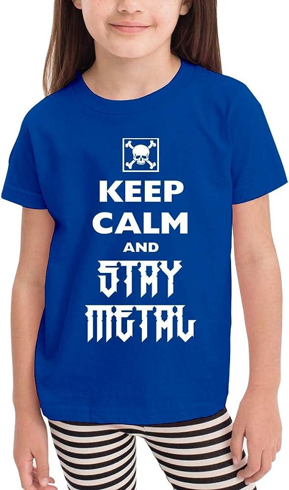 Keep Calm Stay Metal Cartoon Print Baby Boys Camiseta para Verano ...