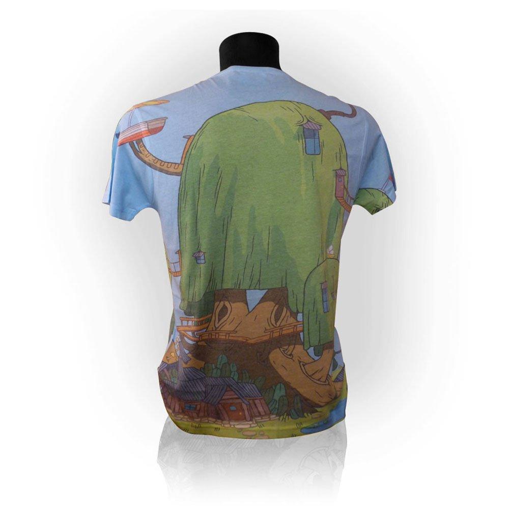 Adventure Time Finn and Jake's Treehouse Sublimation Print T-Shirt (Medium)