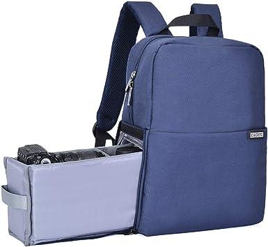 Caden Kamerarucksack Wasserabweisend Kameratasche Dual Use Dslr Bag Diebstahl Fotorucksack Kompatibel Mit Spiegelreflexkamera Canon Nikon Sony 14 Laptop Stativ Blau Elektronik