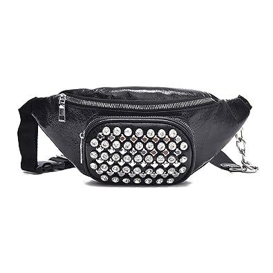 f1de445ed46a Amazon.com: LLQUS Women PU Leather Waist Bags Chest Tote Purse Bust ...