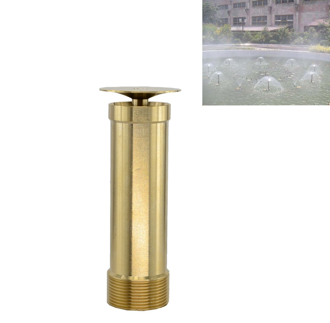 "Brass Column Garden Square Fireworks Pool Pond Adjustable Fountain Nozzle Sprinkler Spray Head SSH335 (2"")"
