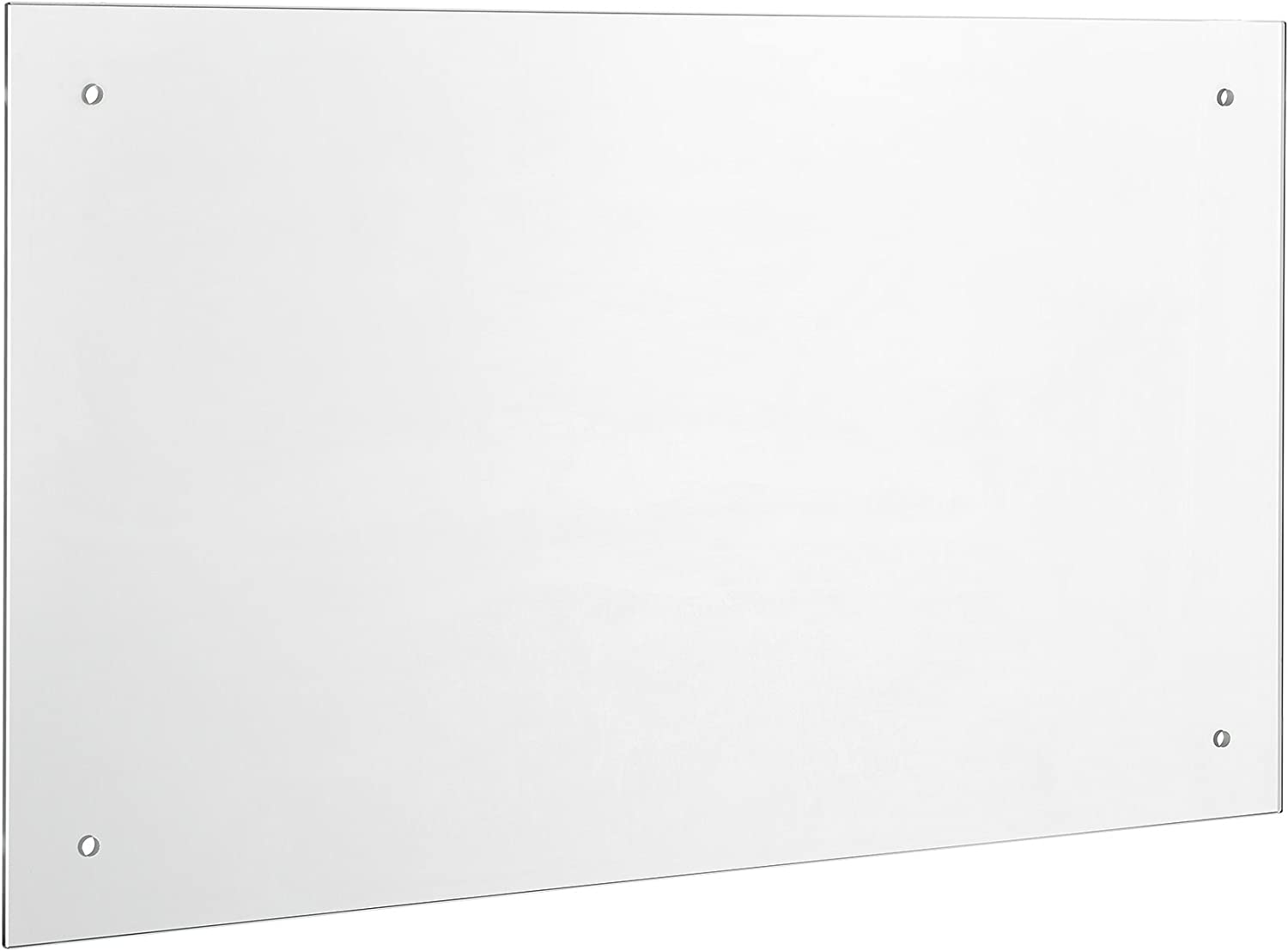 kitchen rear panel - wall - splashback - safety glass - clear - transparent - splash guard - 70 x 40 cm