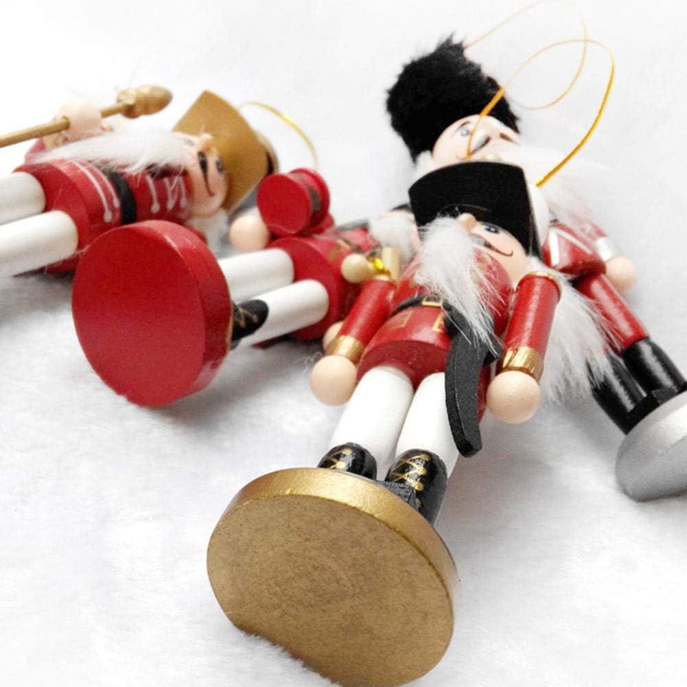 Casse Noisette En Bois Soldat Figurine Batteur D/écorations Jouet Pour Mariage Anniversaire D/écoration Pour Enfants Amis Casse Noisette En Bois 12.5 cm 4PCS//Set Soldat Casse-noisette Noel