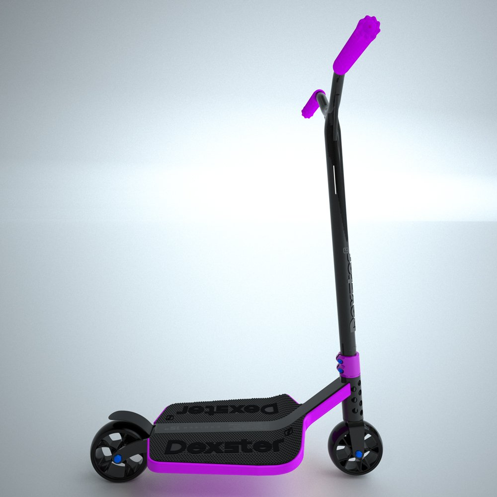 EzyRoller Dexster Cruiser Scooter - Purple Wide Deck Kick Scooter - Ride On for Children Ages 6 to 14 Years Old - Fun Play and Exercise for Boys and Girls - Keep Kids Active Outdoors by EzyRoller