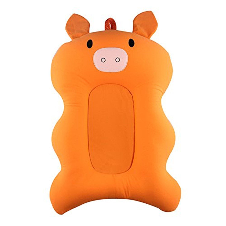 Soft Baby Bath Cushion, 0-6 Month Newborn Baby Pad Tub Pillow Bath Anti-Slip Lounger Air Cushion Floating Seat pinnacleT1