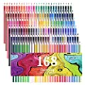 160 Colored Pencils - Vibrant Colors Pre-Sharpened Colored Pencils Set for Adult Coloring Books
