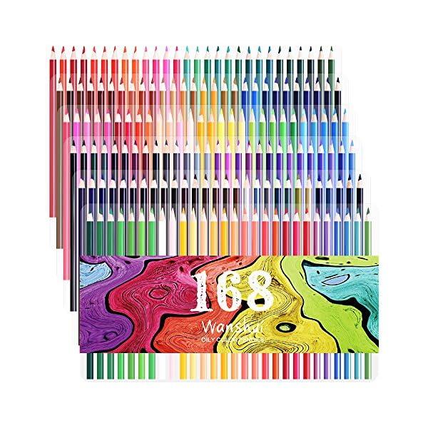 160 lápices de colores – colores vibrantes preafilados juego de lápices de colores para adultos libros de colorear ¡, 168 colors