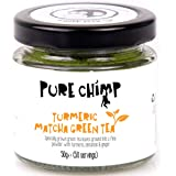 Turmeric Matcha Green Tea - 50g Jar by PureChimp - for Matcha Lattes