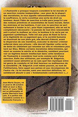 Critique de lidée de sanction (French Edition): Jean-Marie ...
