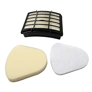 Sohapy Filter Kit for Shark Vacuum Cleaner Navigator Lift Away NV350, NV35,NV352, NV355, NV356E, NV357, NV360, NV370, NV391,Part XFF350 XHF350 and Other NV35 Series