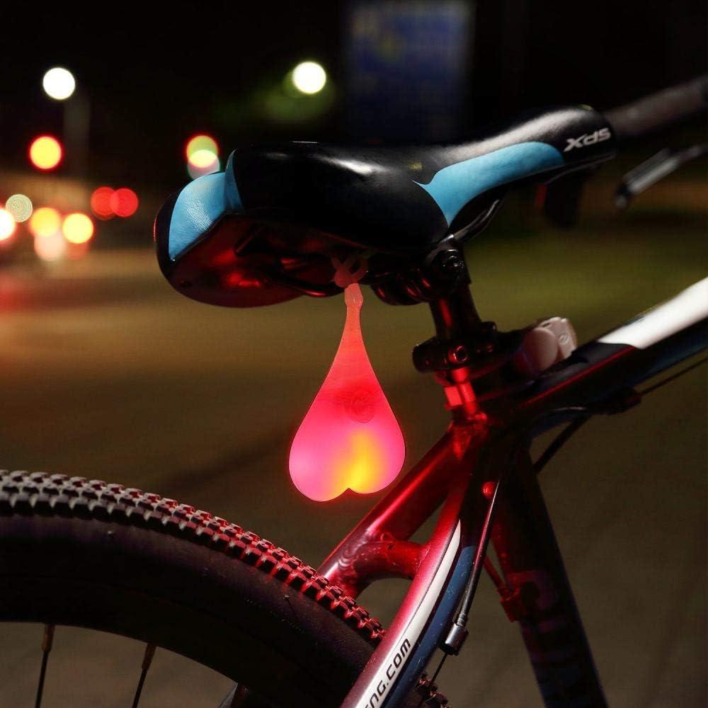 Sports /& Outdoors heart shaped cycling tail lamp bike taillight lamp bone shaped