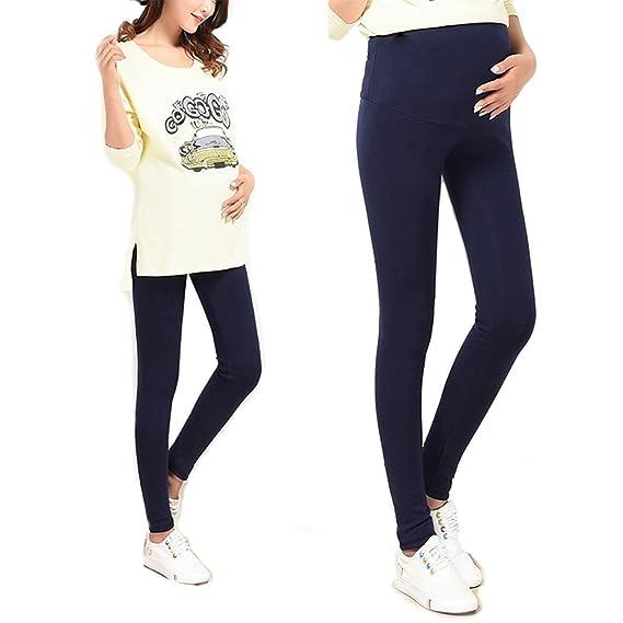 f145ebe4dd1 Bold N Elegant Women Navy Blue Comfortable Maternity wear Thin Summer  Pregnancy Belly Leggings with Adjustable