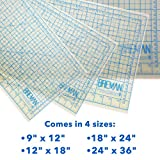 Breman Precision 12''x18'' Cutting Mat - Translucent Self Healing Mat Is the Perfect Cutting Mat Board For All Arts & Crafts Including Quilting, Scrapbooking, Sewing, Workshop Use, and School Projects