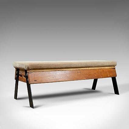 Magnificent London Fine Antiques Vintage Suede Top Bench Vaulting Horse Machost Co Dining Chair Design Ideas Machostcouk