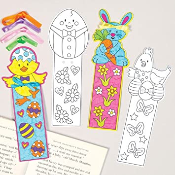 easter character colour in bookmarks for children to design and paint creative colouring craft - Colour For Children