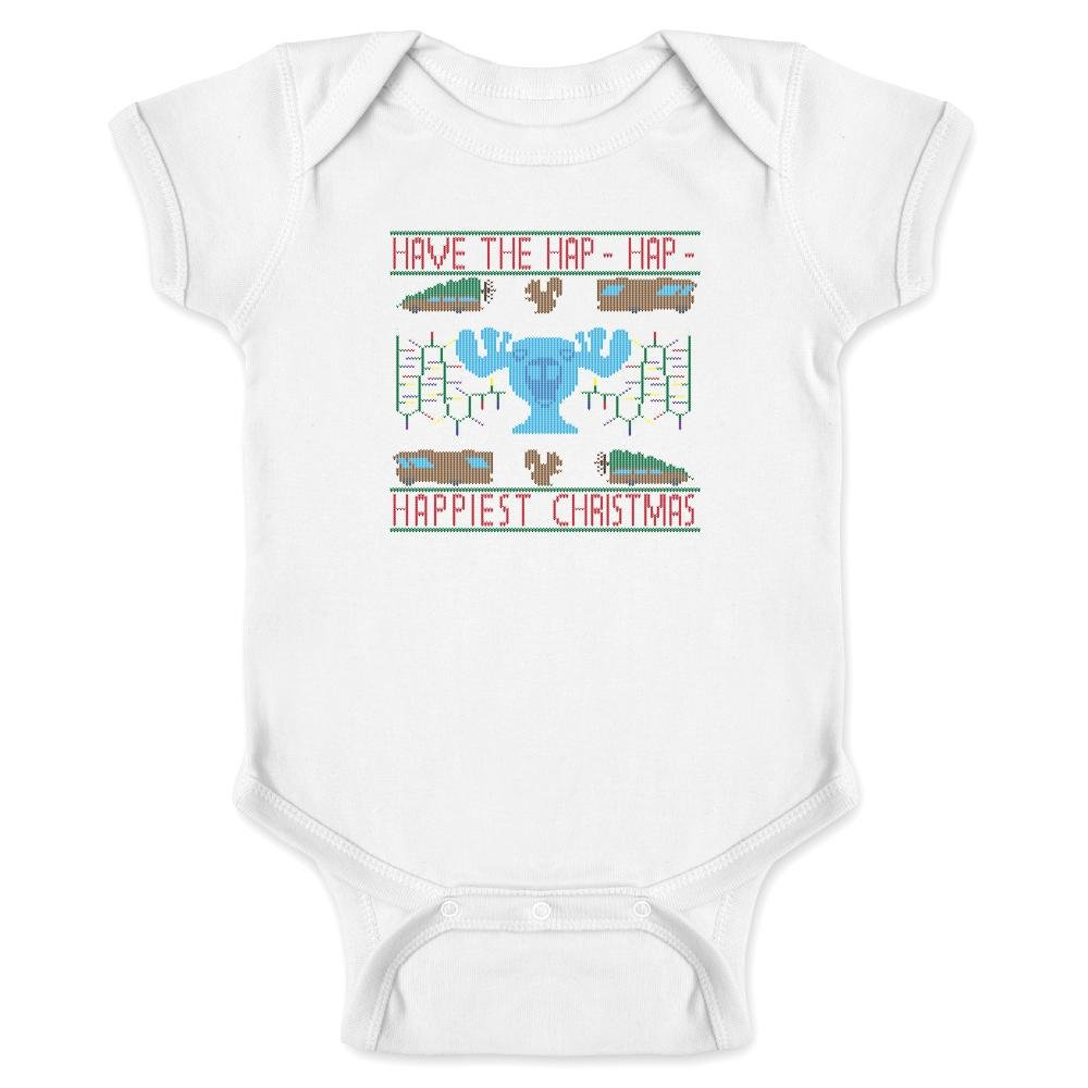 Pop Threads Have The Hap-Hap-Happiest Christmas Sweater-Style Infant Bodysuit