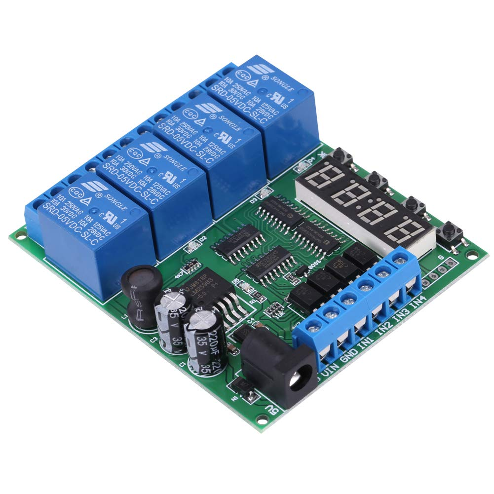 Interruptor de retransmisi/ón del temporizador de retardo del retardo del retardo del retardo del retardo de retardo de retardo de 4 canales de la placa