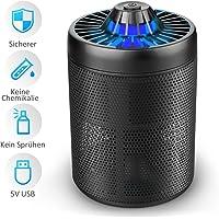 Moskito Killer – DOUHE Bug Zapper USB Mosquito Killer Lampe Insektenvernichter UV LED Moskitolampe elektrisch Mückenfalle durch Reine physikalische Mückenbekämpfung Keine Strahlung für Camping, zu Hause 30m² (SCHWARZ)