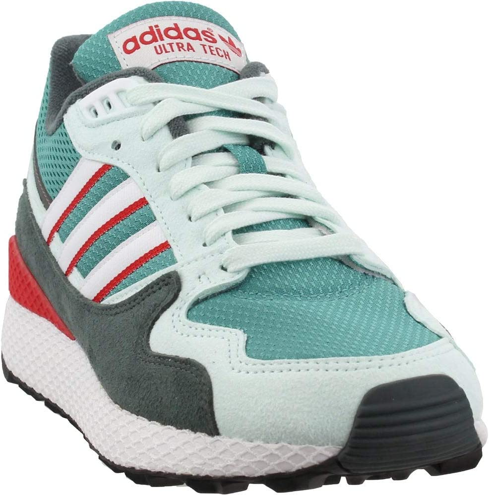 adidas Originals Mens Ultra Tech Lace Up Sneakers Shoes Casual - White