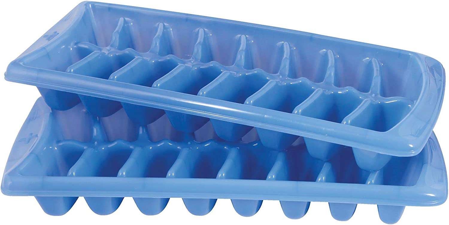Rubbermaid Ice Cube Tray Easy Release Plastic Blue