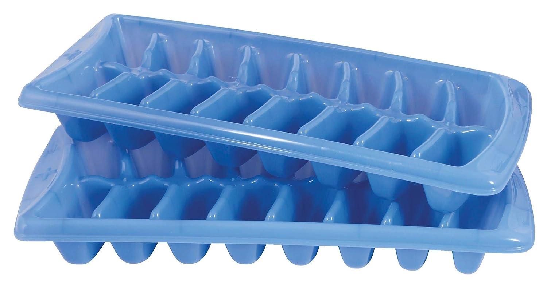 Rubbermaid Plastic Ice Cube Trays, Blue, 2 Pack FG2879RDPERI