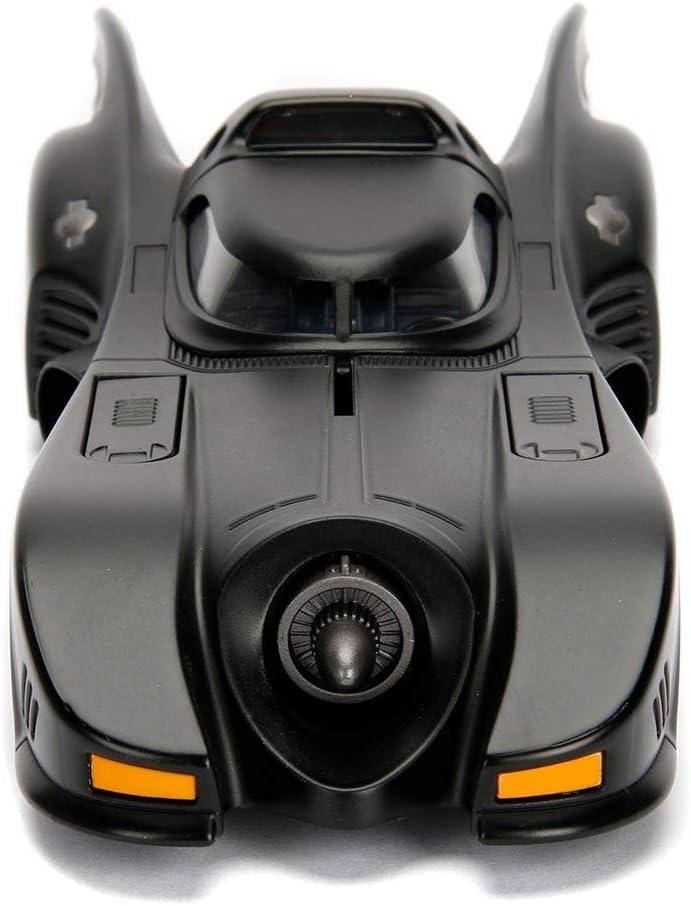 Jada Toys 253215001 Batm/óvil coche metal 1966 Classic serie TV con figura 1:24 Batman-1966 Batmobile Black