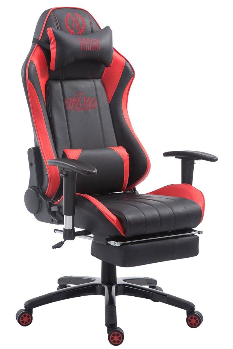 Racing - Silla de oficina Drift con reposapiés negro/rojo ...