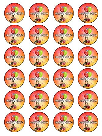 X24 15 40th Birthday Cup Cake Toppers Decorations For Men Women