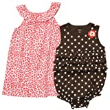 Carters Baby Girls' 2 Pack Dress/Sunsuit