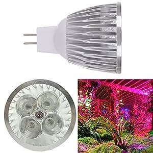 MR165W 5LED (3azul y 2rojo) AC12V planta LED Grow luz bombilla LED deporte luz Downlight bombilla planta para planta de interior flores hortalizas jardín hidropónico