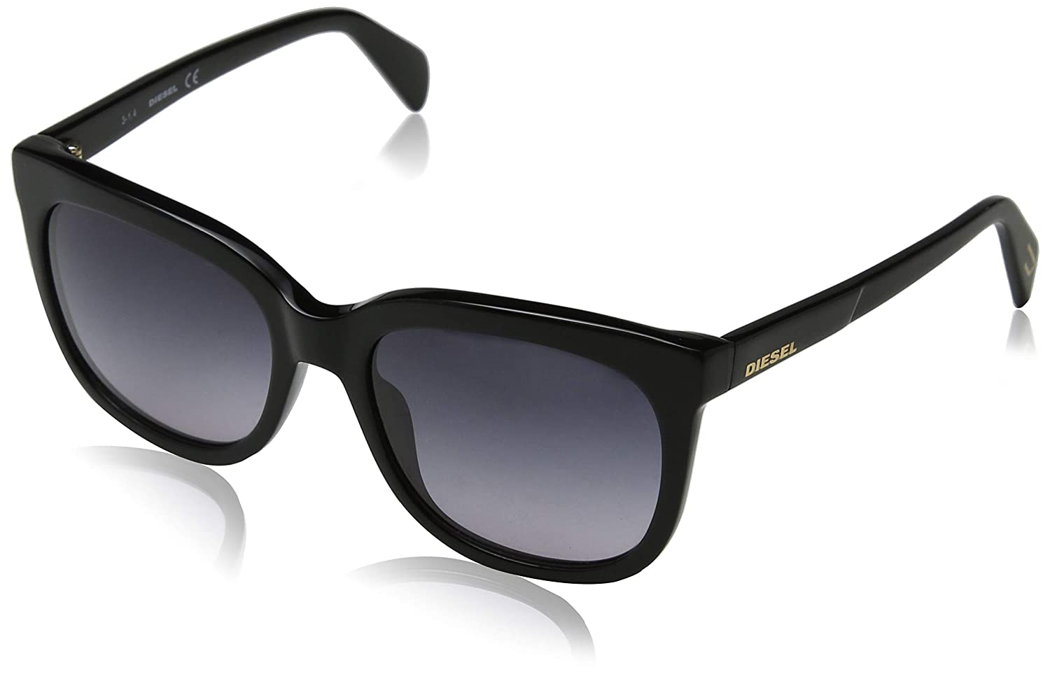 e698af1986 Amazon.com  Diesel Eyewear Womens Square Sunglasses (Black)  Shoes