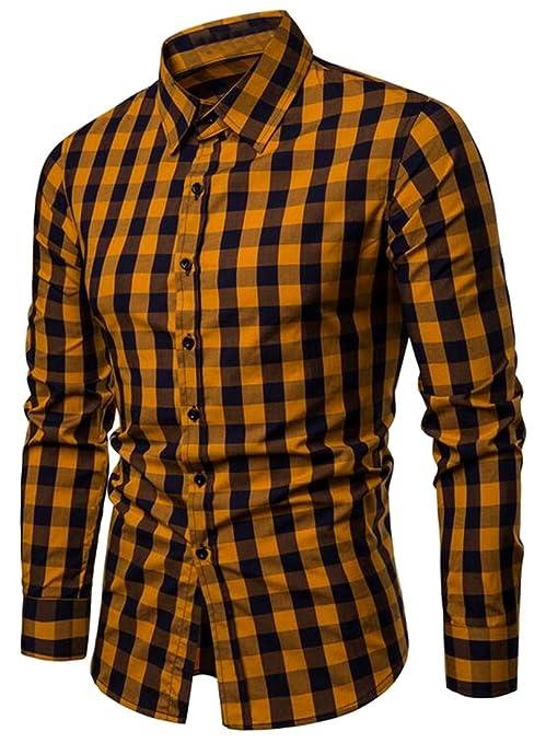 heymoney Mens Warm Flower Printed Button Down Fashion Slim Fit Long-Sleeve Blouses