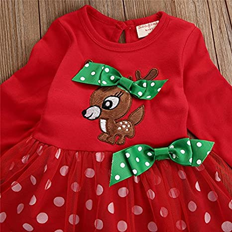 Christmas Outfits for Baby Girls Tutu Dress Tshirt with Striped//Red Plaid Pant Clothing Set