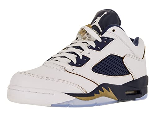 c6a8f68a409 Amazon.com | Air Jordan 5 Retro Low Men's Shoes White/Fire Red/Black ...
