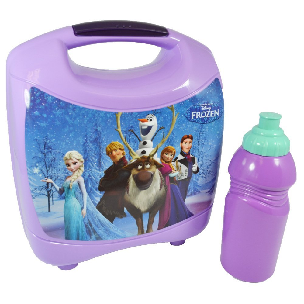 Disney Frozen Plastic Lunchbox with FREE DRINKS BOTTLE