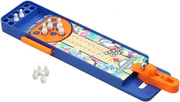 NUOBESTY Mini Juego de Bolos de Plástico Juguete de Disparar Juego de Mesa para Niños Adultos: Amazon.es: Juguetes y juegos