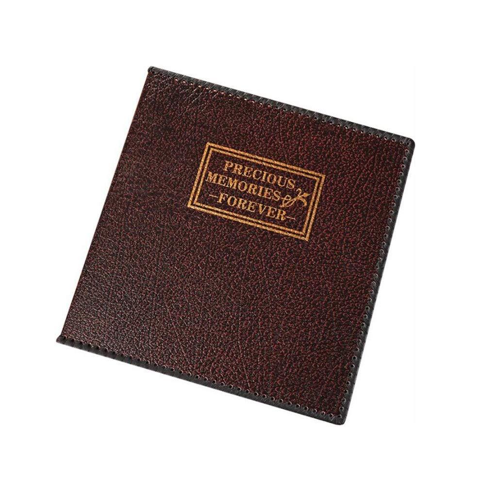 HU Leather Photo Album DIY Paste Family Wedding Album, Brown Black for 1-12 Inch Photo 35x34.5x5cm by HU-Memorial album