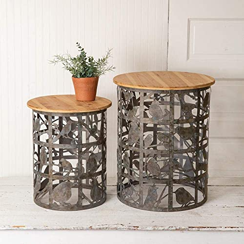 CTW Home Collection Set of Two Bird Cutout Side Table