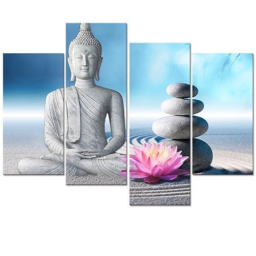 Zen Stone Canvas Wall Art Amazon Com