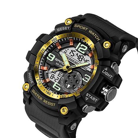 Fitness Smart Watch Sanda de Lujo Marca Hombres Deporte Digital LED Reloj G Militar multifunción Shock